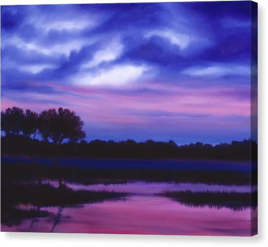 Purple Landscape Or Jean's Clearing Canvas Print