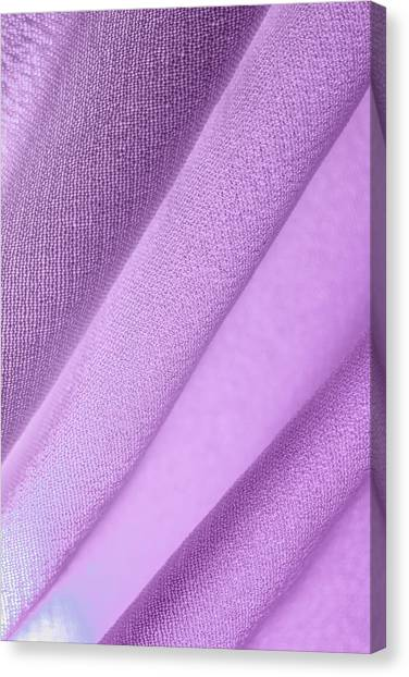 Canvas Print featuring the photograph Purple Lines Across Fabric by Yogendra Joshi