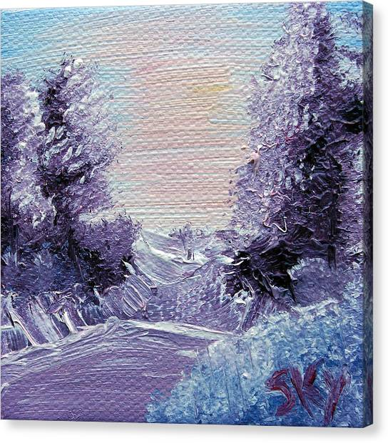Bob Ross Canvas Print - Purple Majesty Landscape by Jera Sky