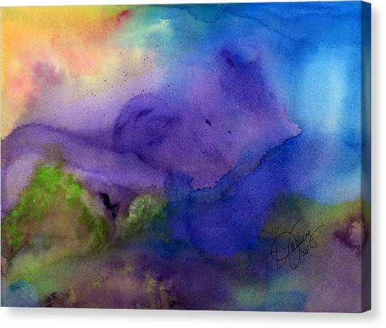 Purple Moon Canvas Print by Stephanie  Jolley