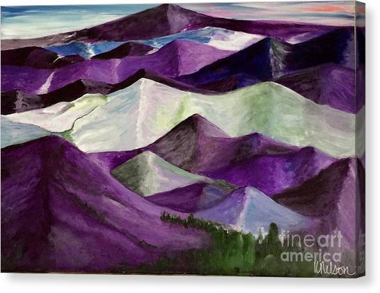 Purple Mountains Majesty Canvas Print
