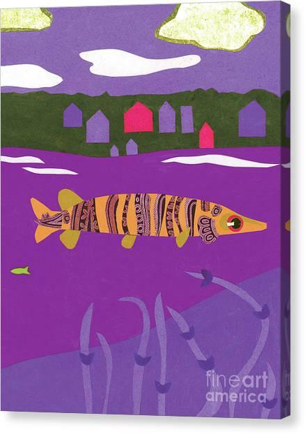Musky Canvas Print - Purple Musky by Laura Lynne
