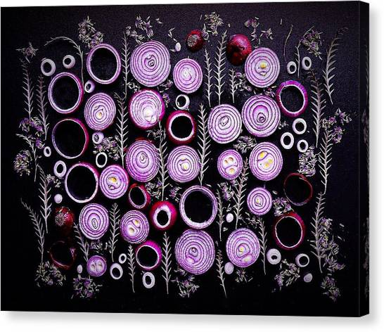 Purple Onion Patterns Canvas Print