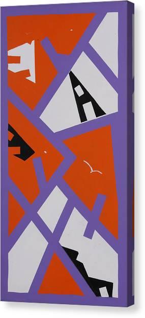 Purple Orange And White Canvas Print