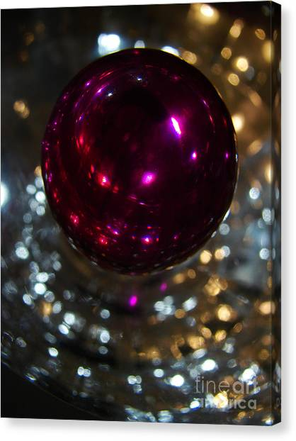 Purple Orb Canvas Print