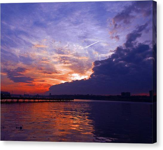 Purple Passion Skies Canvas Print by Kendall Eutemey