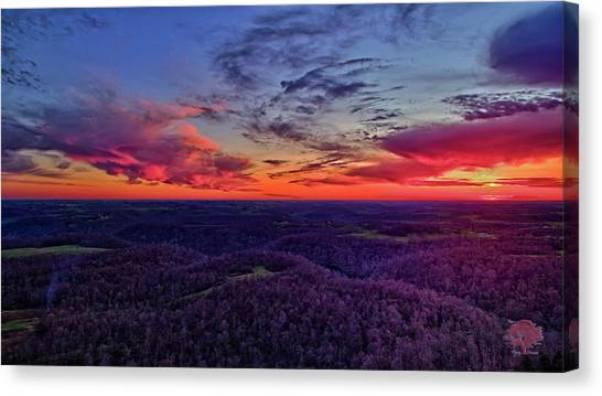 Ohio Valley Canvas Print - Purple Peace by Flying Dreams
