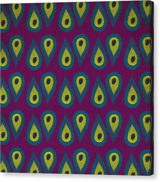 Eggplants Canvas Print - Purple Peackock Print  by Linda Woods