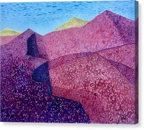 Purple Peak Canvas Print by Vaughan Davies