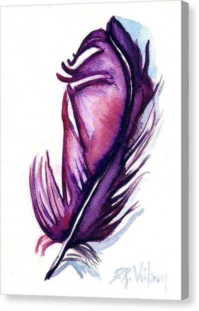 Purple Plume Canvas Print