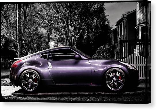 370z Canvas Print   Purple Powah By Dennis Myers