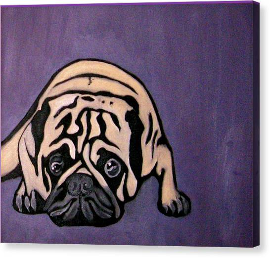 Canvas Print - Purple Pug by Darren Stein