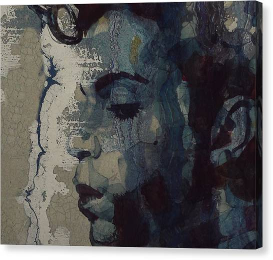Rhythm And Blues Canvas Print - Purple Rain - Prince by Paul Lovering
