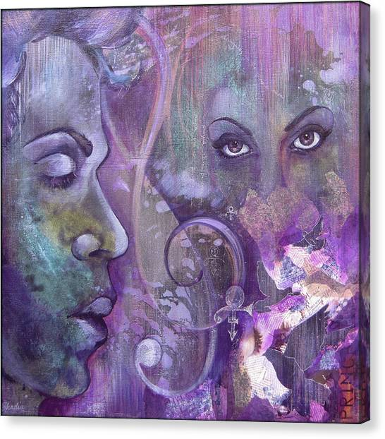 Purple Canvas Print - Purple Rain by Shadia Derbyshire