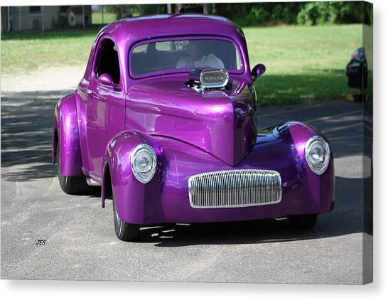 Purple Rod Canvas Print by Jim Simms