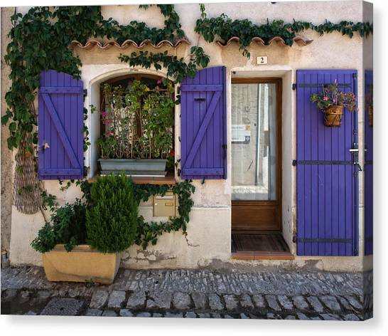 Purple Shutters Canvas Print