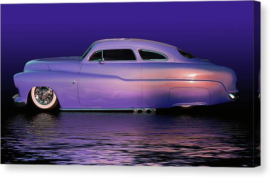 Purple Sled Canvas Print