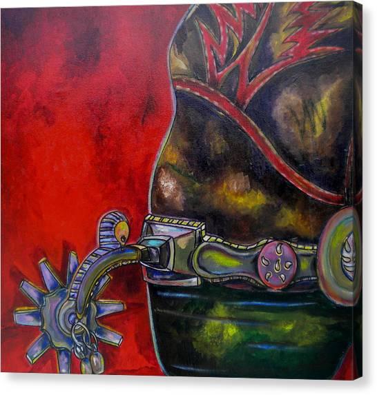 Purple Spur Canvas Print by Patti Schermerhorn