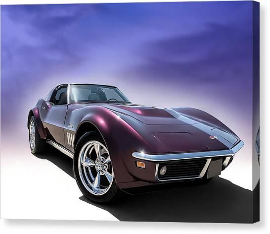 Classic Corvette Canvas Print - Purple Stinger by Douglas Pittman
