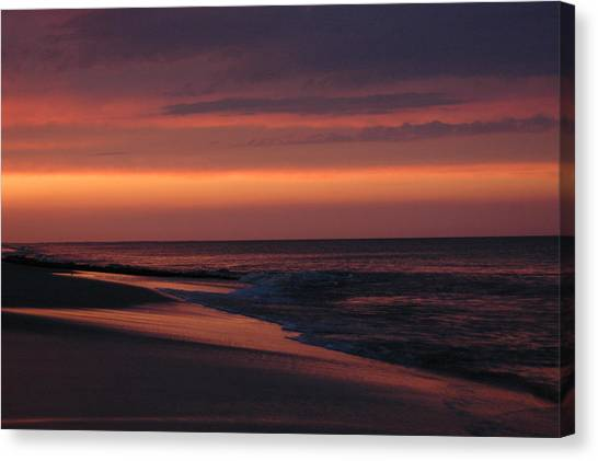 Purple Sunset Canvas Print by See Me Beautiful Photography