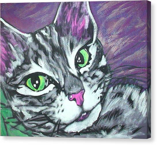 Purple Tabby Canvas Print