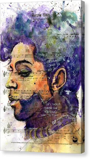 Purple Tears Canvas Print