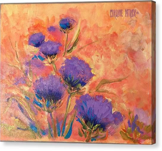 Purple Thistles Canvas Print