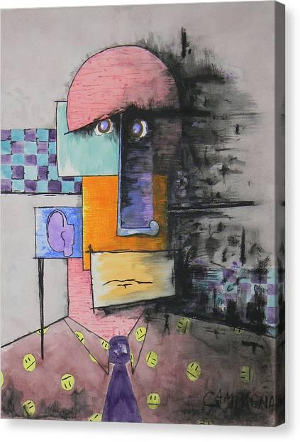 Purple Tie Canvas Print