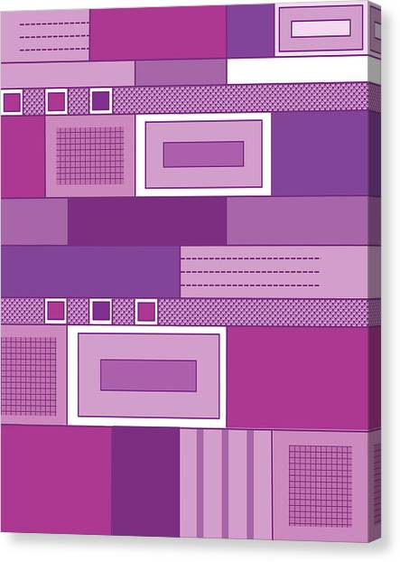 Purple Time Canvas Print