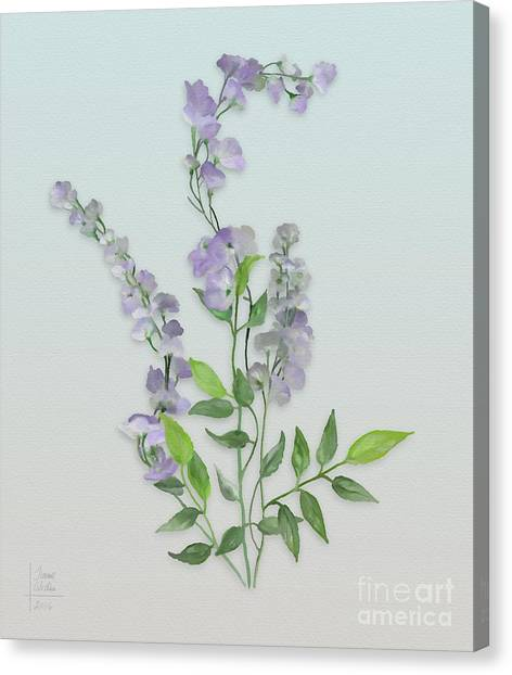 Purple Tiny Flowers Canvas Print