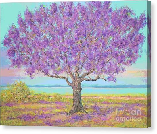 Purple Tree Canvas Print