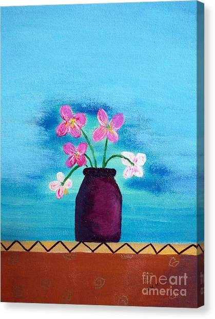 Purple Vase Canvas Print