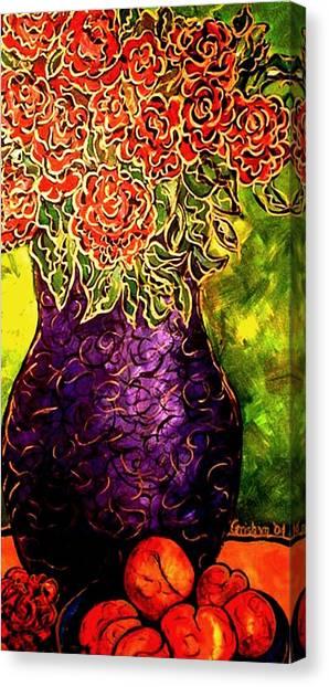 Purple Vase Canvas Print