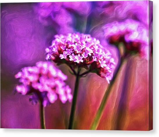 Canvas Print featuring the digital art Purpling by Doctor Mehta