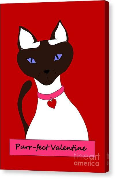Purr-fect Valentine Canvas Print
