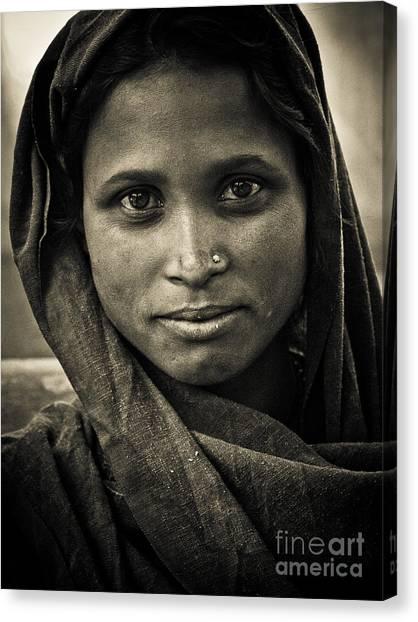 pushkar girl II Canvas Print