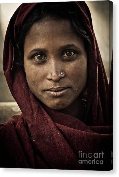 pushkar girl III Canvas Print