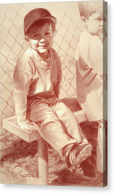 Chain Link Fence Canvas Print - Put Me In Coach by Todd Baxter