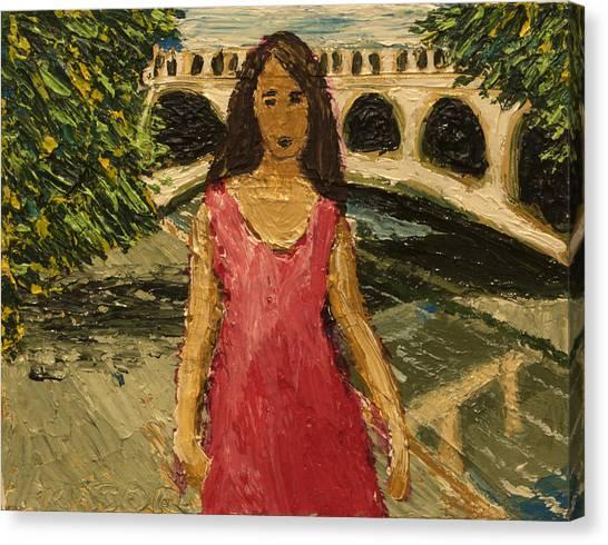 Putah Creek Bridge Canvas Print