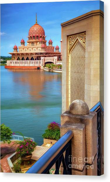 Muslim Canvas Print - Putra Mosque Malaysia by Adrian Evans
