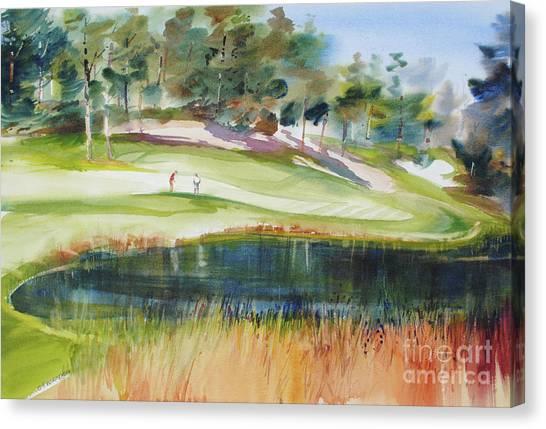 Putting Pine Hills Canvas Print