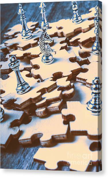 Bishops Canvas Print - Puzzle Of Mysteries And Strategy by Jorgo Photography - Wall Art Gallery