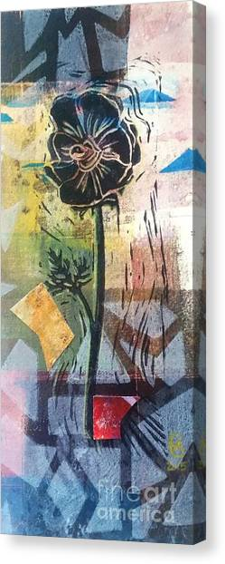 Puzzled Floral Canvas Print