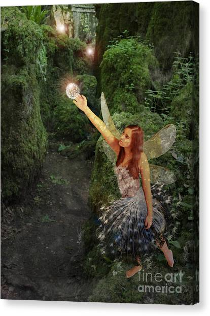 Puzzlewood Fairy Canvas Print by Patricia Ridlon