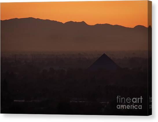 Cal State Long Beach Canvas Print - Pyramid Dawn by Michael Ziegler