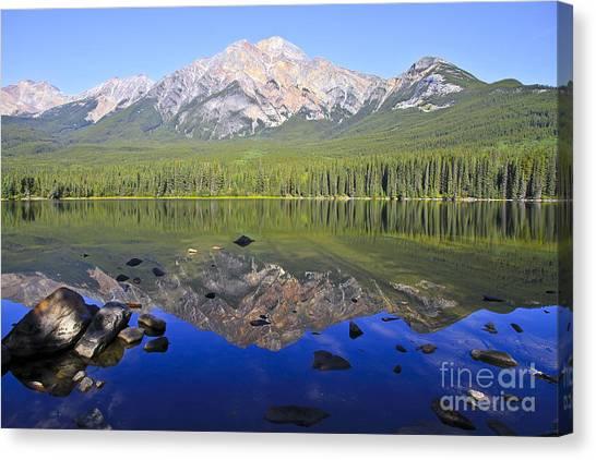 Pyramid Lake Reflection Canvas Print