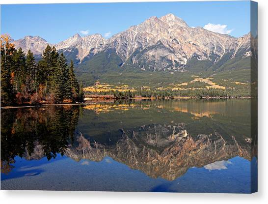 Pyramid Mountain And Pyramid Lake 2 Canvas Print