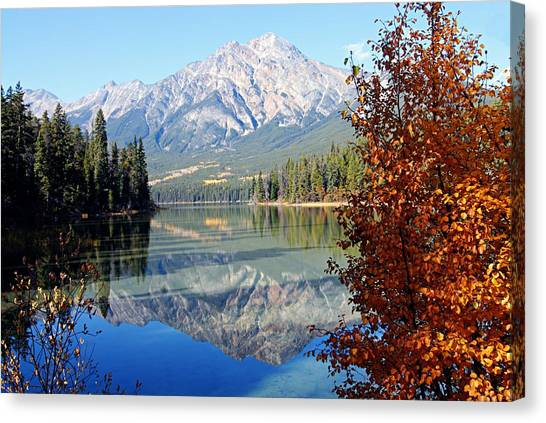 Pyramid Mountain Reflection 3 Canvas Print