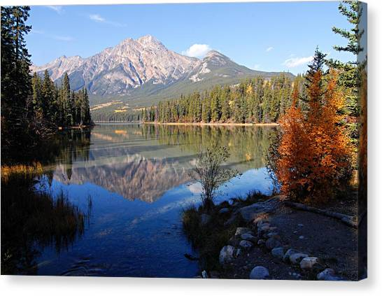 Pyramid Moutain Reflection Canvas Print