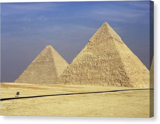 Pyramids At Giza Canvas Print